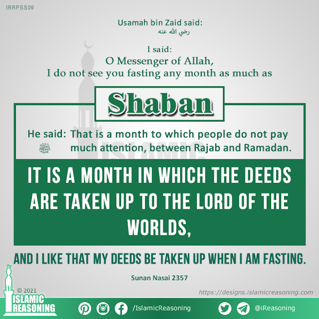 Sha'ban Series: It is a month in which the deeds are taken up to the Lord of the worlds | Islamic Reasoning Designs