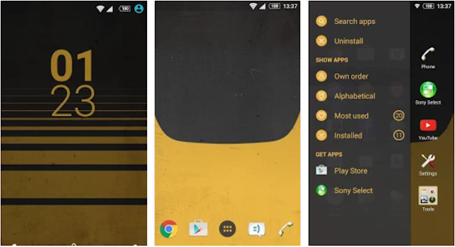 XPERIA Yellow Retro Theme Apk