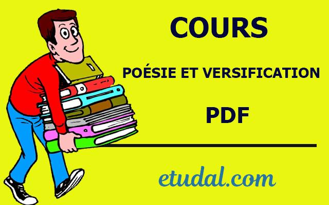 cours poésie et versification s2 pdf