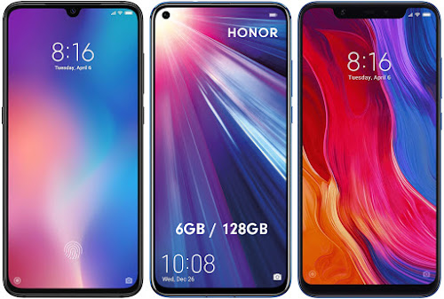 Xiaomi Mi 9 64G vs Honor View 20 128 GB vs Xiaomi Mi 8 128G