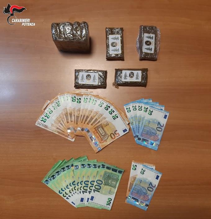 Ingente sequestro di droga nel potentino, due arresti