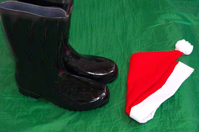 Santa boots and hat