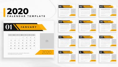 template kalender 2020 cdr, template kalender 2020 cdr pro, template kalender 2020 profesional, template kalender 2020 .ai