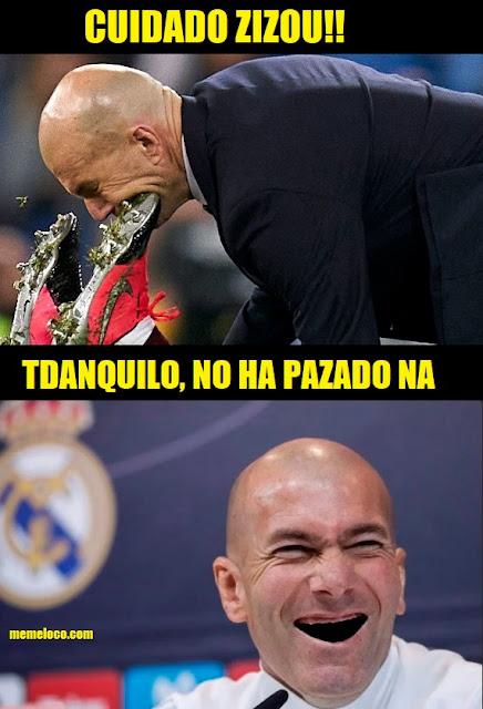 Zidane sin Dientes luego de la patada  ante el celta