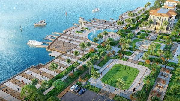 phối cảnh quảng trường biển trong dự án Habana Island Hồ Tràm