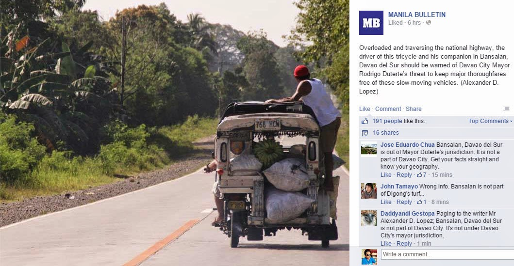 Manila Bulletin Facebook Page's 'Epic Fail'
