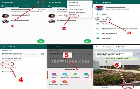 Cara mengubah tema whatsapp tanpa aplikasi