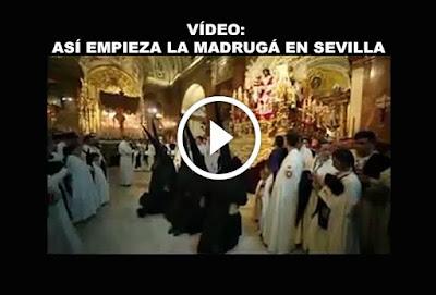 Video asi empieza la Madruga en Sevilla en que vemos a las hermandades del Gran Poder y la Macarena con su concordia en la madrugada del viernes santo de cada semana santa de sevilla