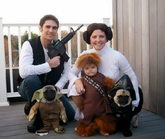 family cosplay star wars