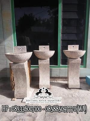 Pedestal Batu Marmer, Wastafel Batu Alam, Wastafel Cuci Tangan