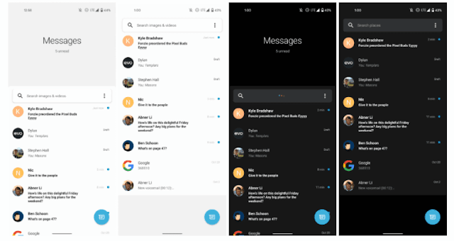 On a Pixel, you can load the One UI version of Google Messages