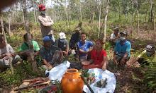 Ritual Adat Dayak Penyelesaian Sengketa Tumpang Tindih SPT di Atas SPT di Dusun Jirak