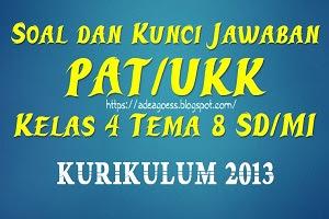 Download Soal dan Kunci Jawaban PAT/UKK Kelas 4 Tema 8 SD/MI Kurikulum 2013