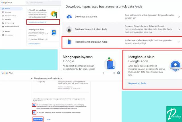 Cara Mengapus Akun Gmail Lewat PC Permanen