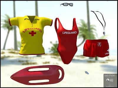 Lifeguard Uniform for Genesis 3 Female