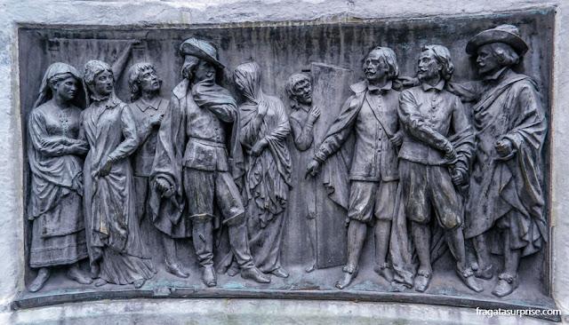 Monumento a Calderón de la Barca, Plaza de Santa Ana, Madri