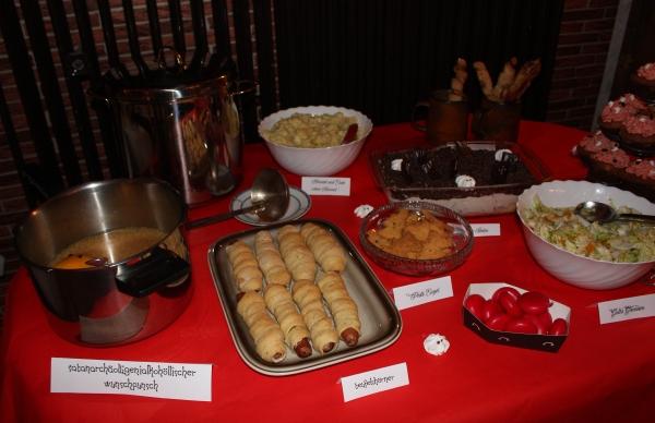 Übersicht Buffet-Tisch