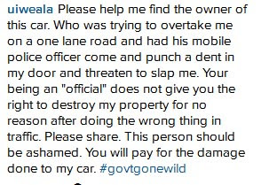 Okonjo-Iweala's Son Cries Out Over Threats By Armed Escorts While Driving