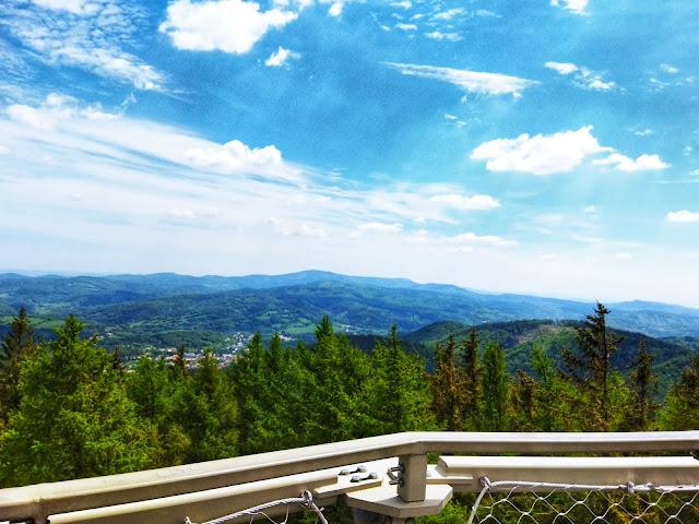 ładne widoki z wieży widokowej, gdzie jechać