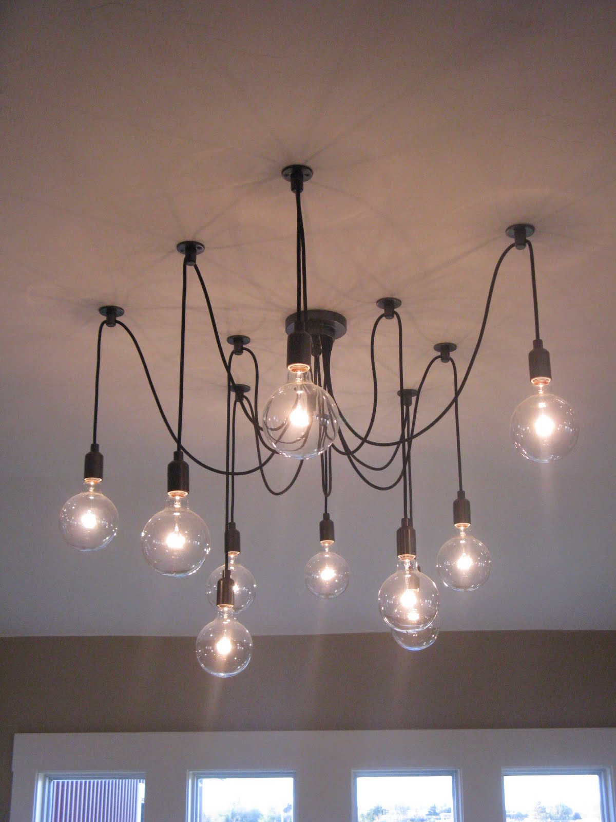 Favorite Farmhouse Feature Edison Chandelier