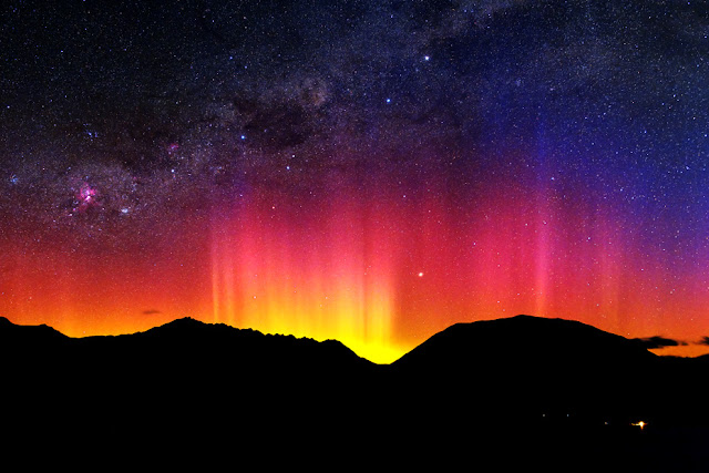 Aurora over Queenstown