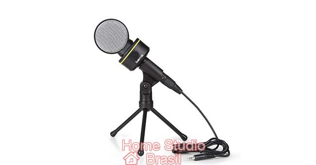 Microfones P2 para melhorar a qualidade do áudio gravados em notebooks
