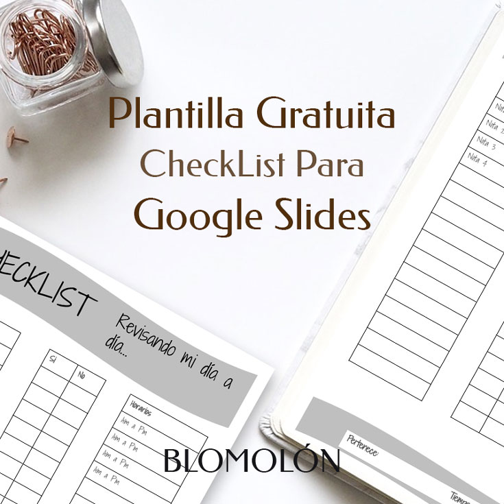 plantilla gratuita checklist para google slides