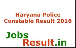 Haryana Police Constable Result 2016