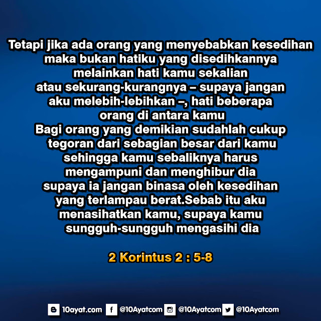 2 Korintus 2: 5-8