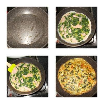 receita da omelete com cânone e mussarela