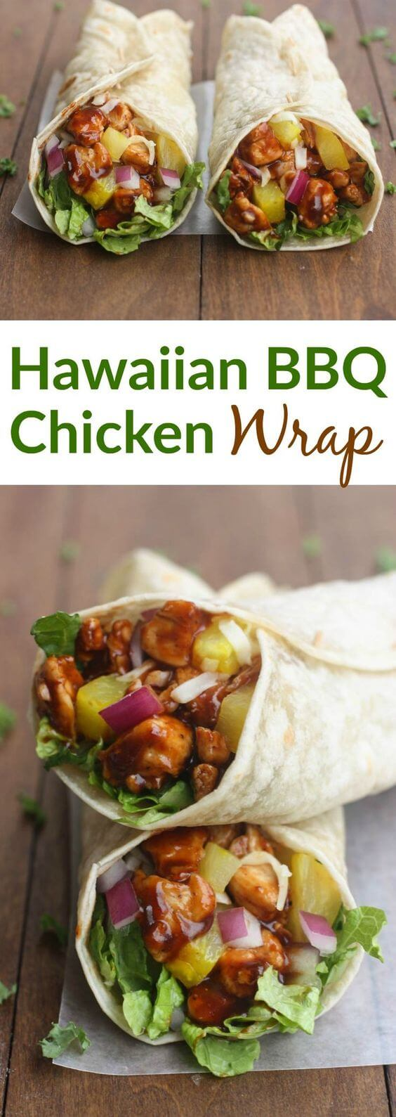 Easy Hawaiian BBQ Chicken Wraps Recipe
