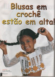 RECEITA DE BLUSINHA EM CROCHÊ PARA CRIANÇAS PASSO A PASSO