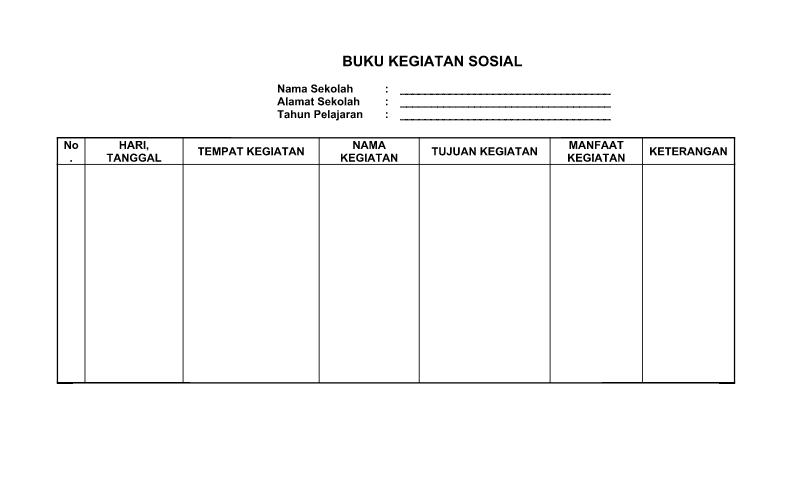 Contoh Pelaksanaan Kegiatan Sosial dalam Administrasi Tata UsahaSekolah (TU)