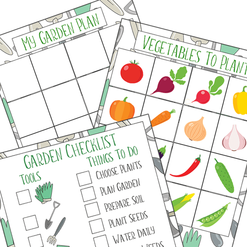A Fun Way for Kids to Plan a Garden | Free Printable ...