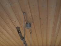 Wohnzimmer Lampe Holzdecke