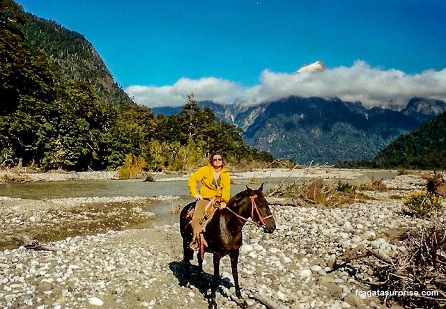 Passeio a cavalo nos Lagos Andinos, Chile