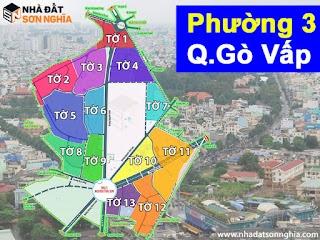 Bản đồ quy hoạch lộ giới hẻm phường 3 quận Gò Vấp HCM