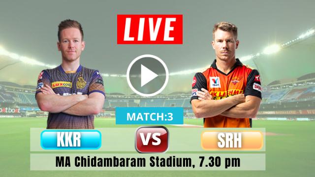Hyderabad vs Kolkata, 3rd Match, ipl 2021