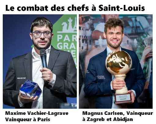 Le combat des chefs entre Magnus Carlsen et Maxime Vachier-Lagrave devrait tenir ses promesses à Saint-Louis