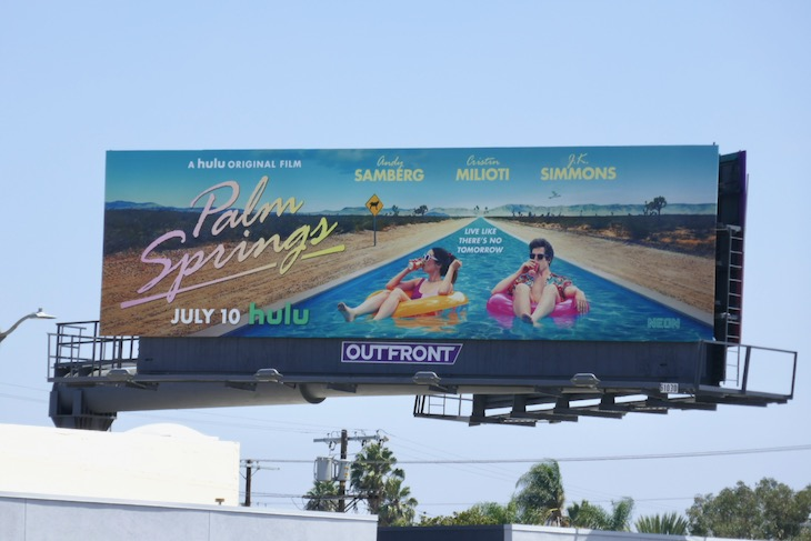 Palm Springs Hulu movie billboard