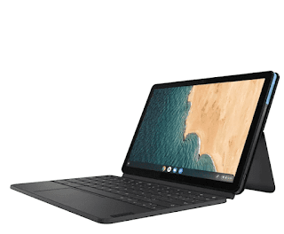 """$199, Lenovo Duet 10.1"""" Touch 2-in-1 Chromebook w/ 128GB SSD"""