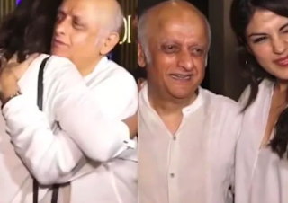 Old video of Riya Chakraborty hugging Mukesh Bhatt went viral, telling the photographers- 'Good quality photo'