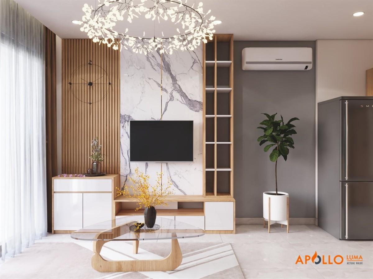 Thiết kế nội thất căn 43m2 Vinhomes Ocean Park đẹp long lanh