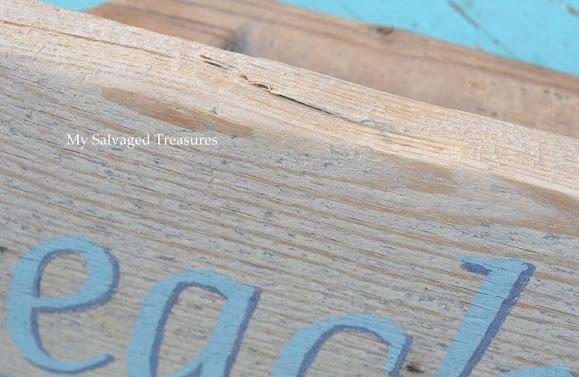 repurposed wooden concrete tool