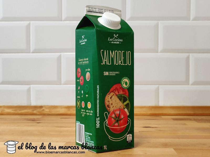 Salmorejo La Cocina de Aldi fabricado por García Carrión.