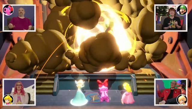 Bowser's Big Blast blow up Luigi explosion Mario Party Superstars Nintendo Treehouse Live E3 2021