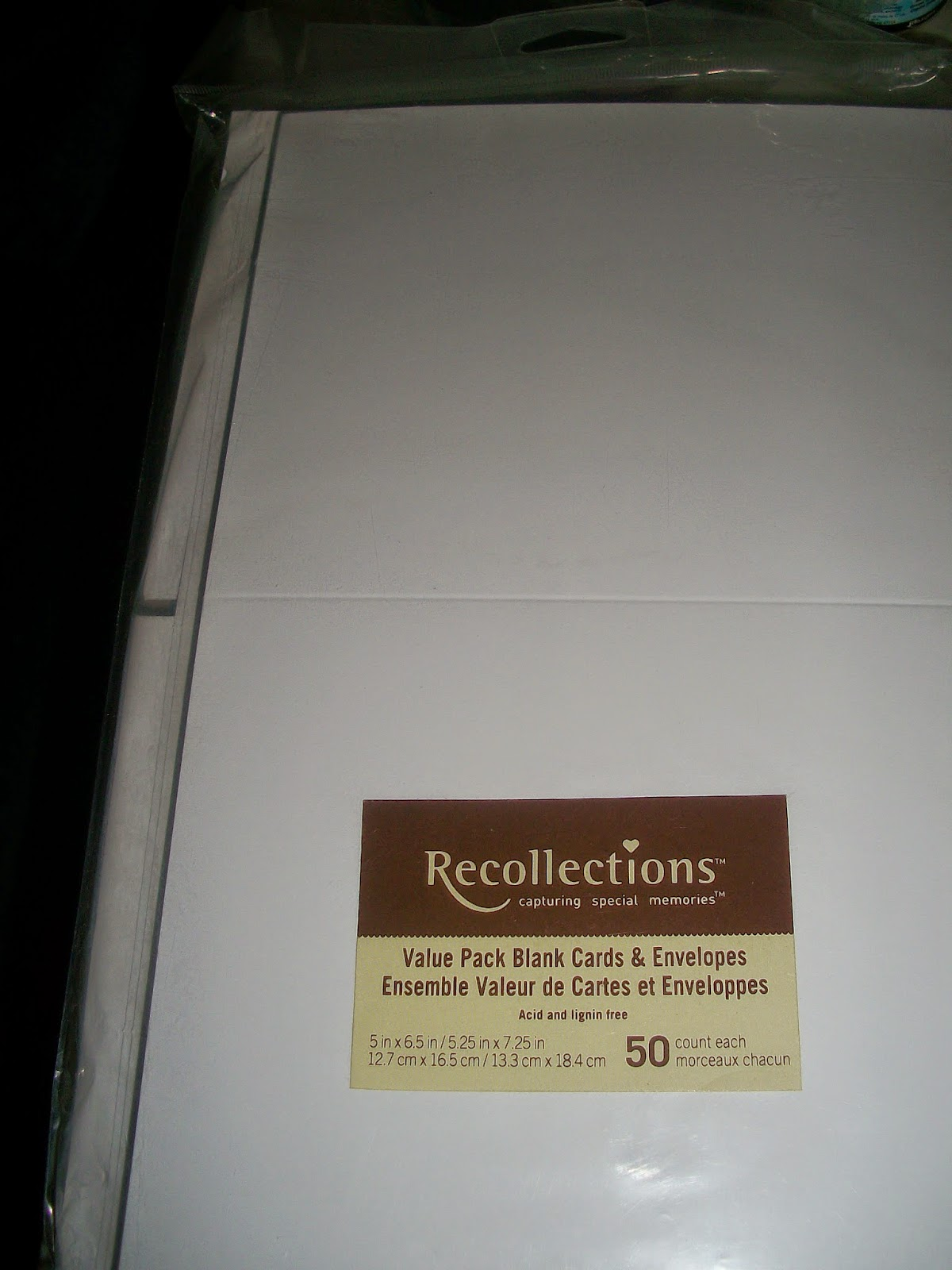 Recollections white shimmer cardstock