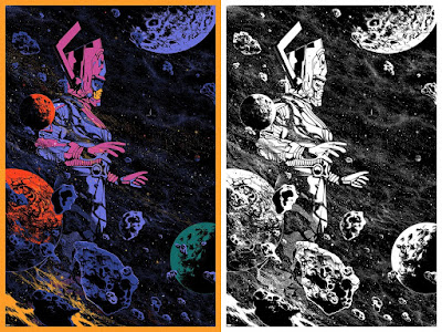 Fantastic Four: Galactus Screen Print by Kilian Eng x Mondo x Marvel