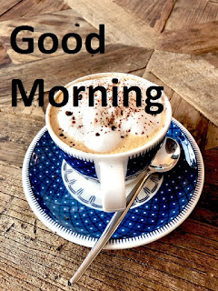 good morning with coffee image
