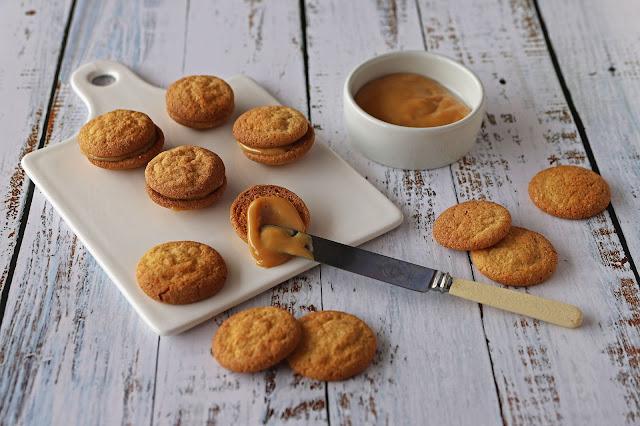 Συνταγή για Μπισκότα Γεμιστά με Καραμέλα Dulce de Leche